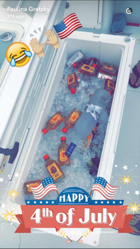 Paulina Gretzky Snapchat