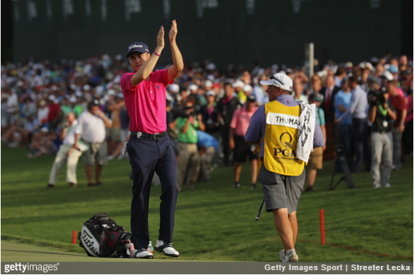 Justin Thomas thanks the fans of Charlotte.