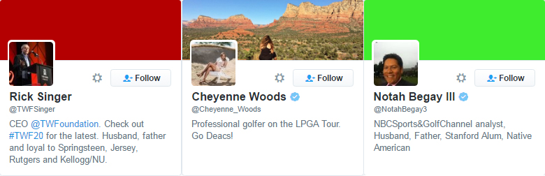 tiger woods follows people