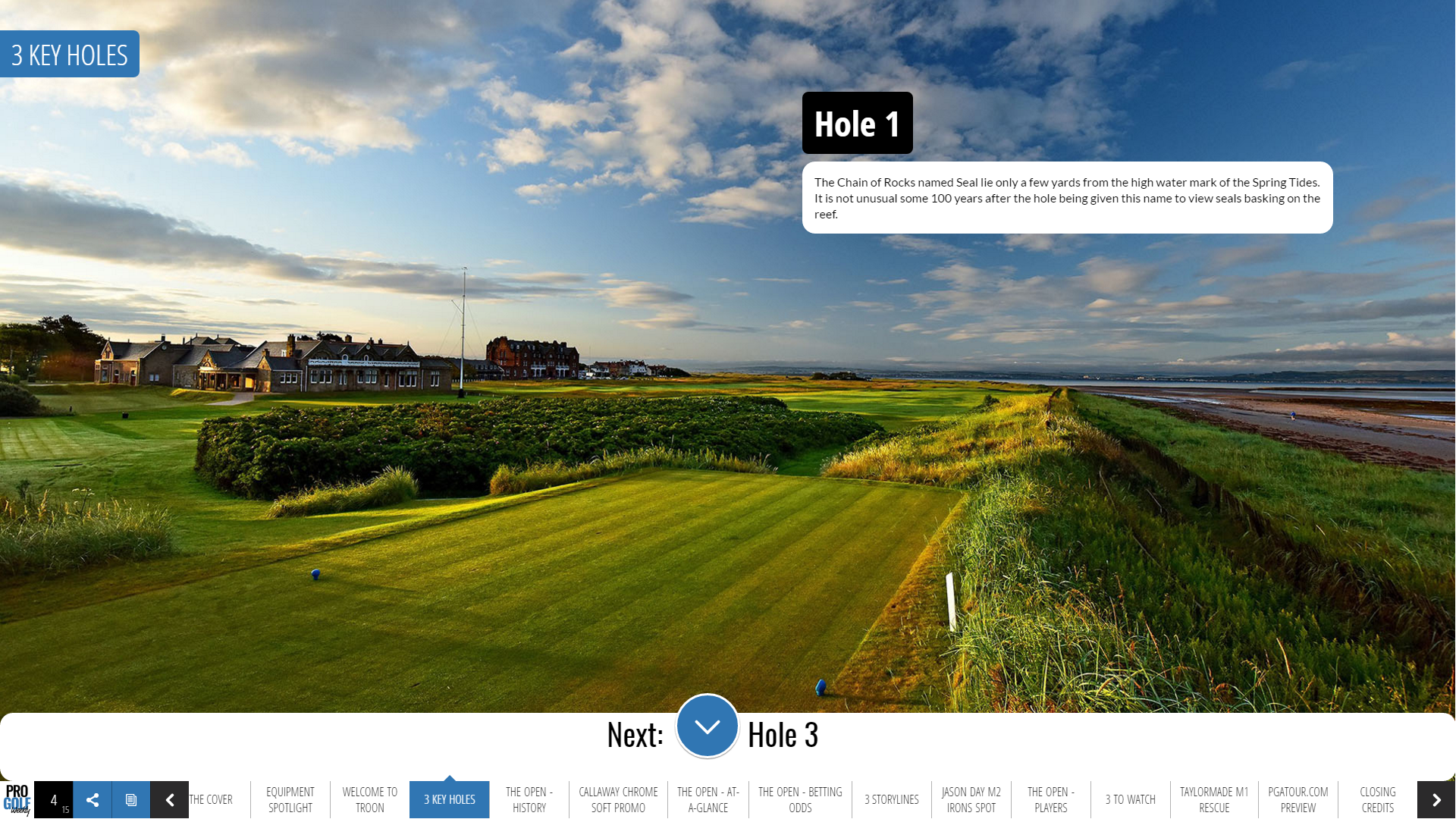 The Key 3 Holes at Royal Troon for the 145th British Open.