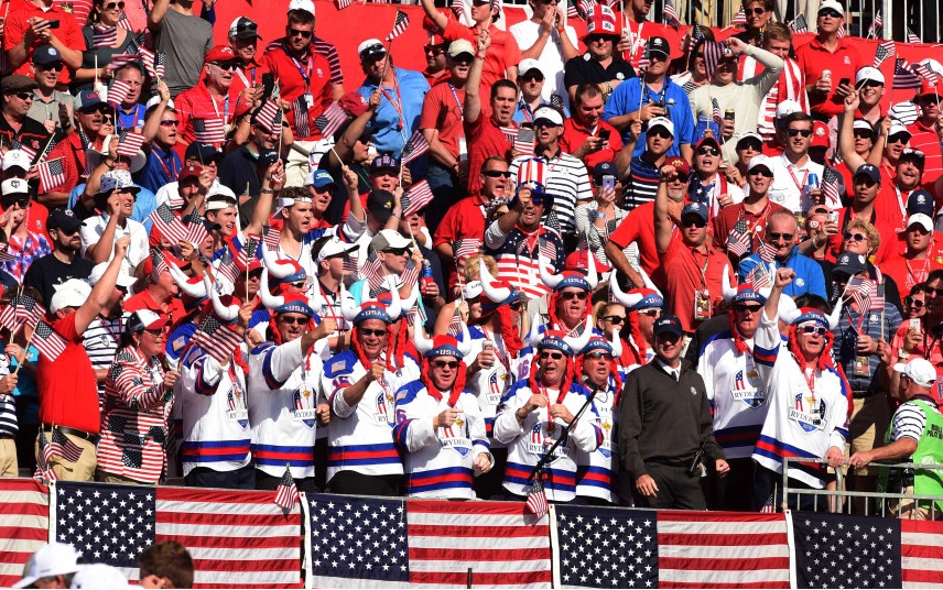 Ryder Cup fans at Hazeltine have come under criticism from the media and European players. (Getty)
